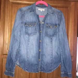 Juicy Couture Woman's Denim Shirt Top Small